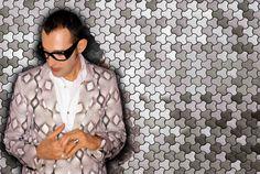 Aluminum alloy tiles by Karim Rashid