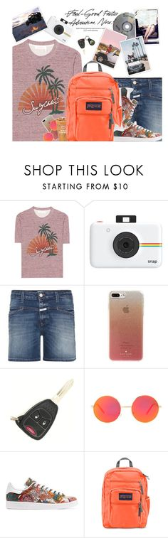 """""""Road Trip Adventure"""" by hollowpoint-smile ❤ liked on Polyvore featuring See by Chloé, Polaroid, Closed, Kate Spade, Wrangler, Revo and adidas Originals"""