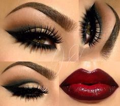 Pretty vamp makeup