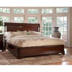 Shop the American Cherry Sleigh Bed at Perigold, home to the design world's best furnishings for every style and space. Room Ideas Bedroom, Bedroom Furniture Sets, Fine Furniture, Bed Furniture, Furniture Design, Cherry Sleigh Bed, Cottage Chic Living Room, Twin Canopy Bed, Bedroom With Sitting Area