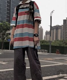 Tomboy Fashion, Streetwear Fashion, Fashion Outfits, Swaggy Outfits, Cute Casual Outfits, Retro Outfits, Grunge Outfits, Look Cool, Aesthetic Clothes