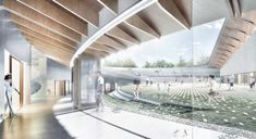 NOA proposes encircling nature and people for dalseong gym competition - designboom | architecture