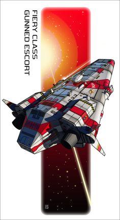 Fiery Class Escort Ship by biomass.deviantart.com on @DeviantArt