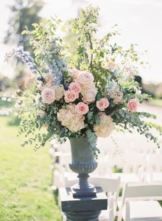 Hydrangea, rose and belles of Ireland wedding flowers: http://www.stylemepretty.com/2017/03/02/a-wedding-so-gorgeous-it-deserves-a-whole-weekend-of-celebrating/ Photography: Sawyer Baird - http://www.sawyerbaird.com/ Assistant: For the Love of It - https://fortheloveof.it/