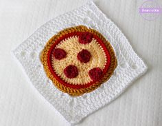Pizza Pie Granny Square - free crochet  pattern from Sewrella.