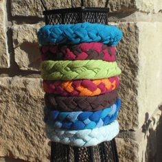 Bracelet, Braided Jersey 4-Strand Up-Cycled from Tshirts, $2.50 ea. Great gift for teens and preteens!