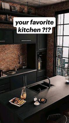 White Kitchen Cabinets, Kitchen Shelves, Diy Kitchen, Kitchen Decor, Dream Home Design, House Design, Mansion Kitchen, Interior Ideas, Interior Design