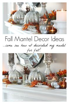Decorating for the seasons made simple with theses Easy DIY Fall Decor Ideas! Including fall wreaths, fall mantles, fall pumpkins and outdoor fall decor! Popular Pins by OHMY-CREATIVE. Fall Mantel Decorations, Thanksgiving Decorations, Seasonal Decor, Halloween Decorations, Mantel Ideas, Holiday Decor, Christmas Decor, Fall Home Decor, Autumn Home