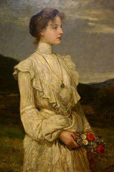 Karoly Lotz Spring Portrait of Ilona K Lippich 1894