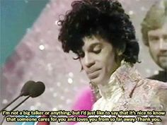Prince @ The Brit Awards 1985 (Best International Artist/Group)