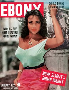 Jet Magazine, Black Magazine, Magazine Art, Ebony Magazine Cover, Magazine Covers, Women In History, Black History, Louie Bellson, Vintage Black Glamour