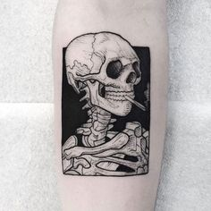 Skeleton Tattoos, Skull Tattoos, Black Tattoos, Body Art Tattoos, Tattoo Drawings, Sleeve Tattoos, Dark Art Tattoo, Leg Tattoos, Future Tattoos