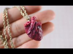 DIY Anatomical Human Heart Necklace - TUMBLR INSPIRED - YouTube