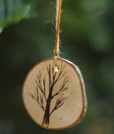 Homemade personalized  Christmas Tree Ornaments | Tree branch Christmas ornaments for the eco-conscious minds