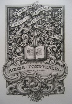 Bookplates -- Brooklyn Historical Society Blog » Blog Archive » Emma Toedteberg Bookplate Collection, 1701-1982 (2012.004)