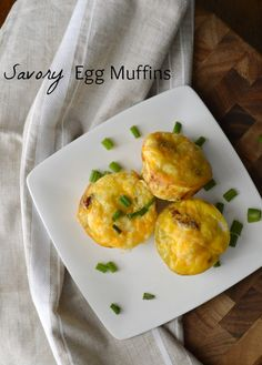 These Savory Egg Muffins are filled with veggies and totally delicious. Easy to grab on the way out the door in the morning – they are the perfect mid-week breakfast! | chocolateandseasalt.com