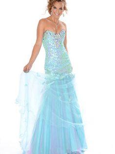 Blue Tulle Evening Dress/ Foraml Dress/Prom Dress 2015 precious formals P10551