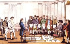 """Steven Smith, """"Whatever Happened to the Enlightenment?,"""" Yale Books Unbound (25 August 2016). Brief essay adapted from Smith's book 'Modernity and its Discontents: Making and Unmaking the Bourgeois from Machiavelli to Bellow'. Image: Initiation of Freemason Apprentice"""