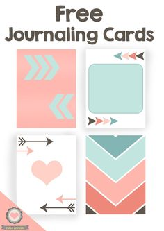 Free Printable Journaling Cards from Clear Colours