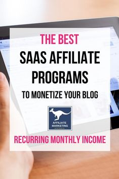 "SaaS (Software As A Service) platforms are great for affiliate marketers because many of the merchants will pay commission on each subscription payment rather than a one-off ""bounty"" for the referral. We look at some of the best platforms for recurring af Marketing Automation, Email Marketing, Affiliate Marketing, Marketing Program, Marketing Books, Marketing Materials, Pinterest Marketing, Blog Tips, Making Ideas"