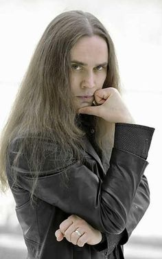 Amazing Men With Long Hair No Name, Metal Bands, A Good Man, Heavy Metal, Leather Jacket, Singer, Long Hair Styles, Boys, Men