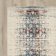 Found it at Wayfair - Hydra Ivory/Blue Area Rug