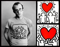 Keith Haring was an American artist and social activist responding to New York City's street culture of the 1980s. His work is about birth, death, sex and