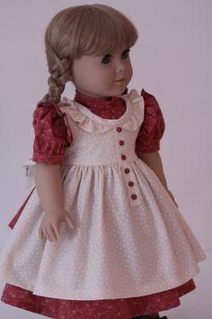 Prairie Dress for Kirsten or Other American Girl doll. $55.00, via Etsy.