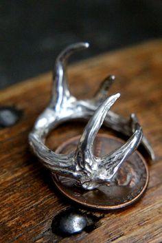 Sterling Silver Elk Antler Ring