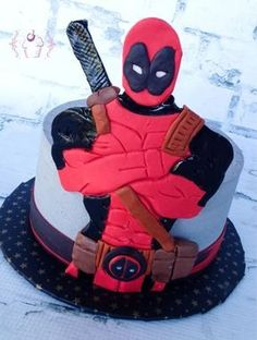 Deadpool Comics - Cake by Cups-N-Cakes