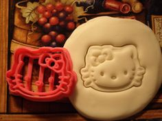 Hello Kitty Inspired Cookie Cutter Stamp Sanrio Inspired Set Pink BPA FREE