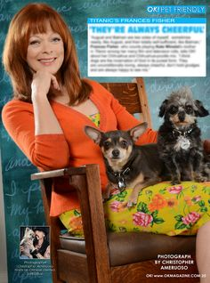 This week in my OK! Pets page in OK! magazine we feature the beautiful and talented Frances Fisher and her two little pups August and Batman. Pick up a copy on stands today.