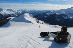 Tristan (at www.ohmyriviera.com) kicking back on Auron's snowy ski slopes in the southernmost Alps