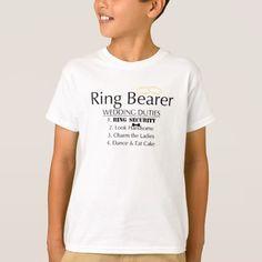 Ring Bearer Wedding Duties T-Shirt