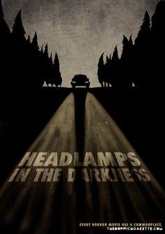 Movie posters of horror cliches by Luciano Marchetti