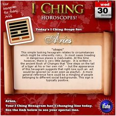 These are the I Ching changing lines associated with your daily I Ching horoscope. The changing lines provide additional information, and provide insight into the 'future' hexagram shown below the changes. Sagittarius Astrology, Aquarius Horoscope, Cancer Horoscope, Scorpio Daily, Scorpio Moon, Aquarius Facts, Medical Astrology, Leo Zodiac, I Ching