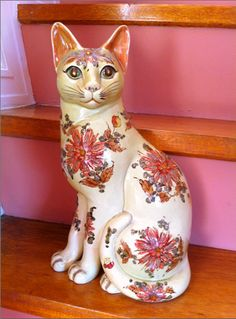 Porcelain cat (from the house of the photographer's  paternal grandfather).