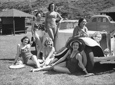 The Women Co. girls on Tamarama beach, 2 February 1939