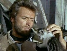 Clint Eastwood and kitten