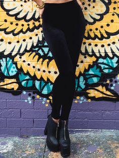 Velvet Black High Waisted Leggings 2.0 (WW $60AUD / US $48USD) by Black Milk Clothing