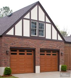 Plain beige or white garage doors are OUT. See what's hot on the market right now: http://www.bhg.com/home-improvement/exteriors/curb-appeal/boost-curb-appeal/?socsrc=bhgpin072515givethegarageafacelift&page=11