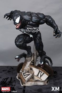 XM Studios is excited to present our next Marvel Premium Collectibles series statue, Venom! The Arch nemesis of Spider-man is immortalized in amazingly detailed 1:4 scale cold-cast porcelain. Each painstakingly handcrafted statue is individually hand-painted with the highest possible quality finish. Venom is one of Spider-Man's most formidable foes: stronger, faster, and immune to his Spider-Sense. Experience the dreaded feeling the web slinger feels whenever he meets the aggressive villain!
