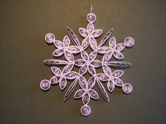 paper quilling - snowflake ornament