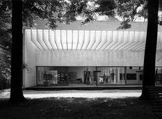 Sverre Fehn's Drawings for Venice's Nordic Pavilion To Be Exhibited in Oslo   Concrete Pavilion   Concrete Structure   B&W photo  