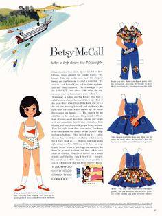 Bonecas de Papel: Betsy McCall - 1960