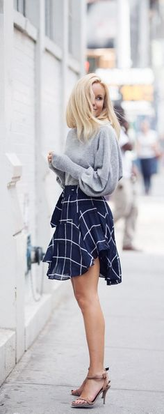 Twirly and flirty in a plaid mini skirt that i must have!
