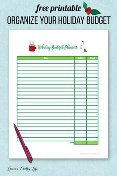 Organize Your Holiday Budget. Get organized for the holidays with a free printable holiday budget planner to keep track of your spending.