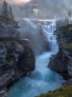 Athabasca Falls in Jasper National Park ~ Alberta, Canada
