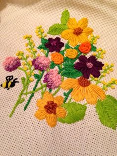 Hand embroidery, flowers