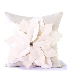Look at this Poinsettia Linen-Blend Pillow on #zulily today!